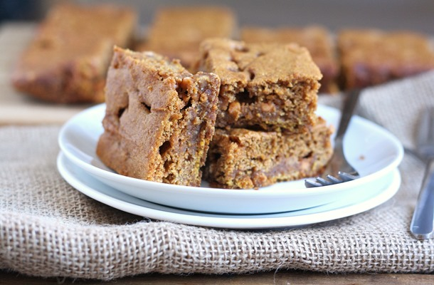 whole grain pumpkin butterscotch bars // cait's plate