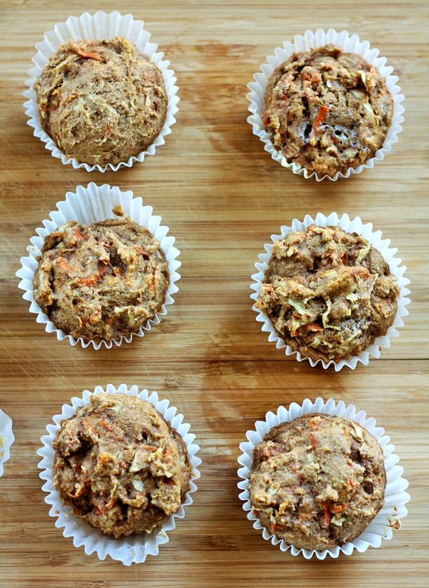 whole wheat carrot apple muffins // cait's plate