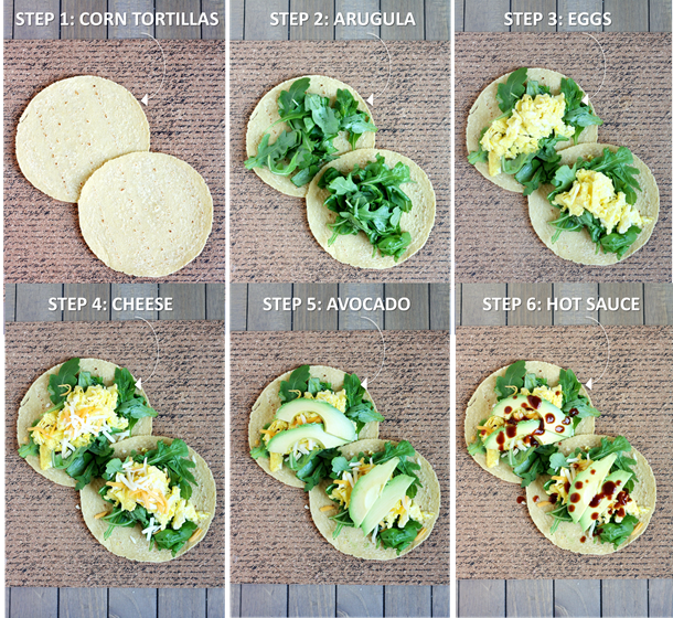 6-ingredient healthy breakfast tacos // cait's plate