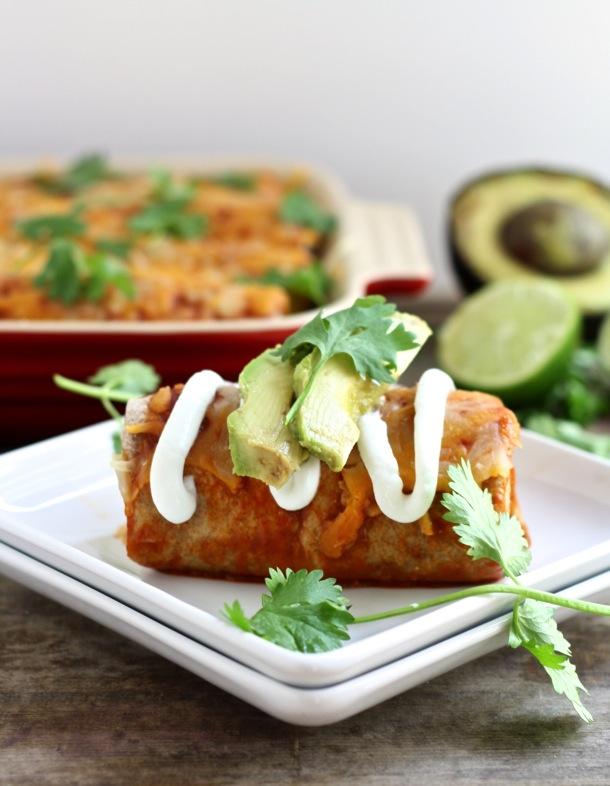 chicken black bean and corn enchiladas // cait's plate