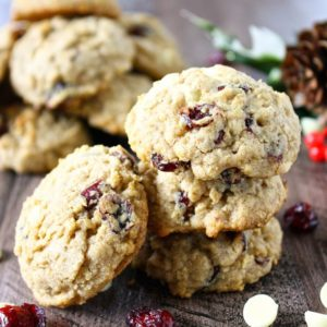 white chocolate cranberry oatmeal cookie // cait's plate