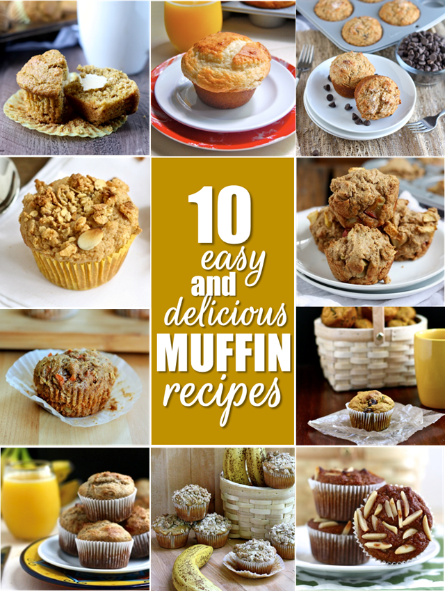 10 easy and delicious muffin recipes - perfect for breakfast and grab and go snacks! // cait's plate