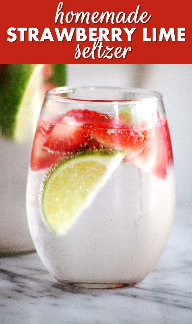 strawberry-lime seltzer: a perfectly refreshing drink for these hot summer days // cait's plate