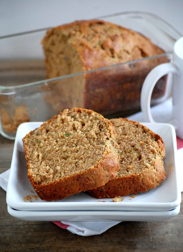 whole wheat walnut yogurt zucchini bread - a healthier twist on a delicious classic! // cait's plate