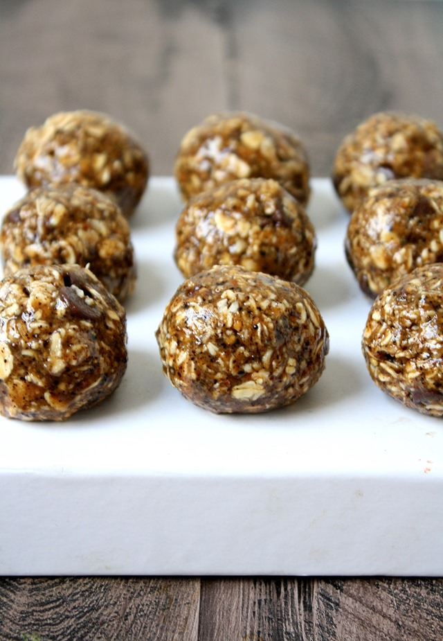 espresso chocolate chip energy bites - portable, popable and delicious! // cait's plate