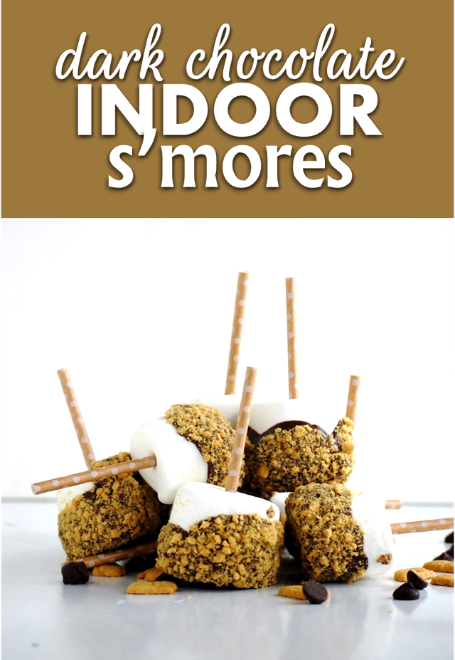 dark chocolate indoor s'mores - a fun and delicious end of summer treat! // cait's plate