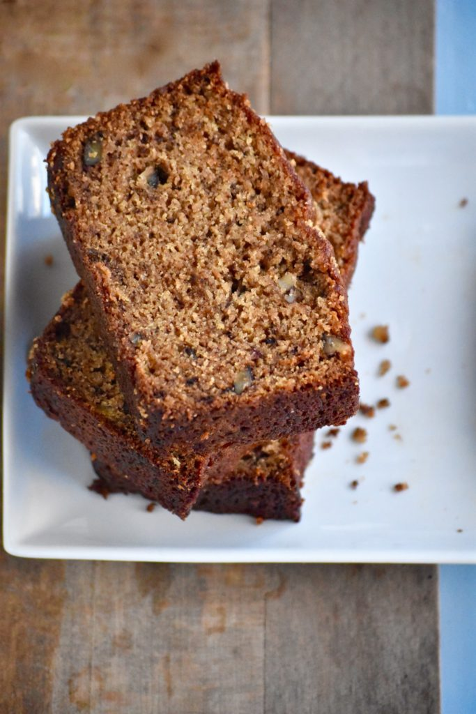 super moist whole grain banana nut bread - a perfect component of breakfast or snack! // cait's plate