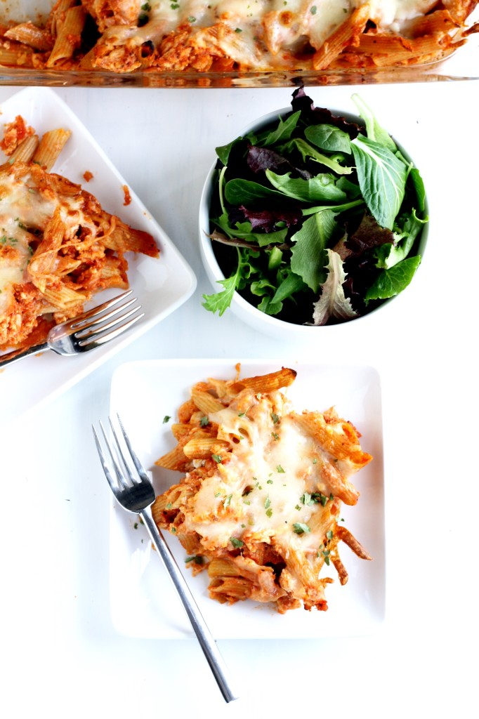 easy, healthier baked penne // cait's plate