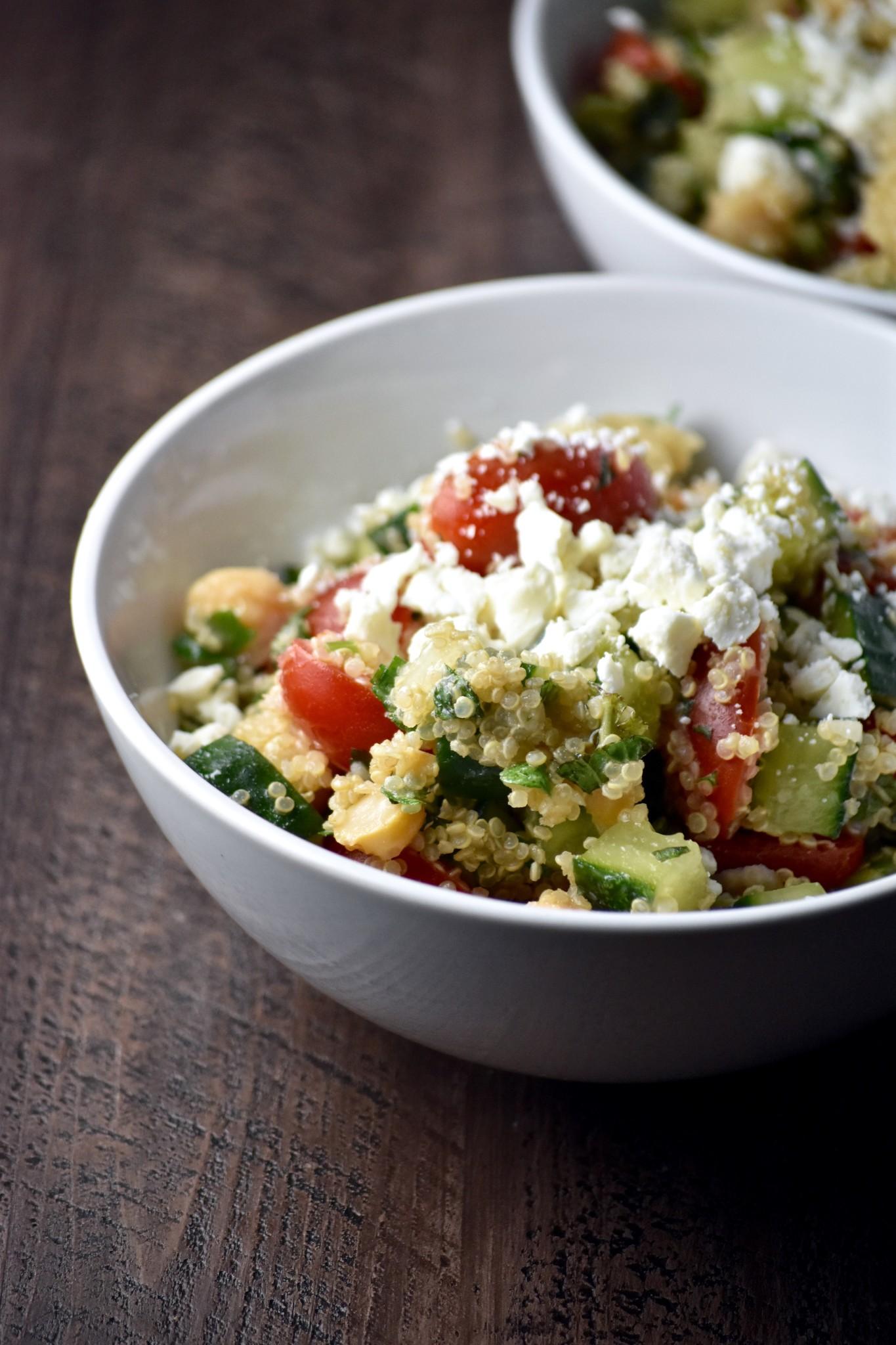 quinoa grain salad with chickpeas & feta // cait's plate