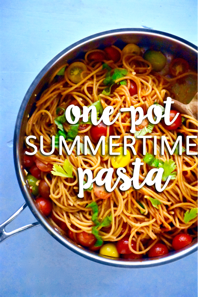 one-pot summertime pasta dish - done in under 30 minutes and you only have to dirty one dish! // cait's plate