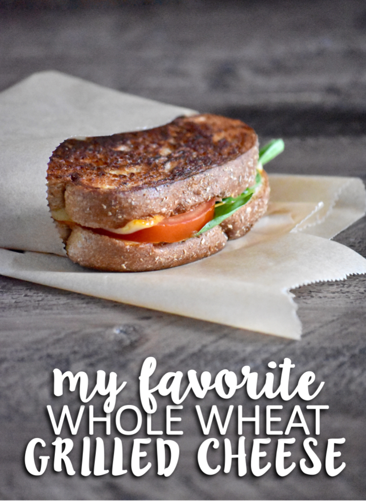 my favorite whole wheat grilled cheese - packs a good 3 food groups into one sandwich! // cait's plate