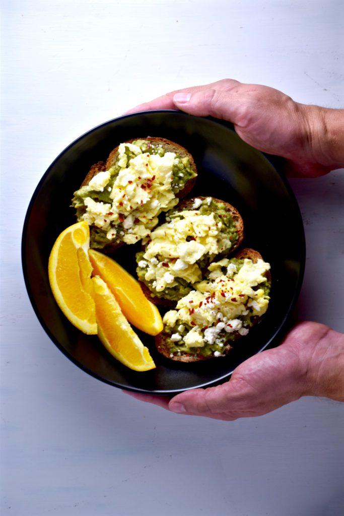 easy avocado egg & feta toasts - great for breakfast, lunch or dinner!  // cait's plate