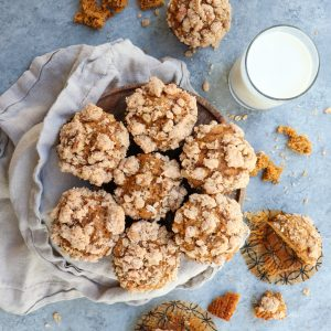 whole grain pumpkin apple streusel muffins // cait's plate