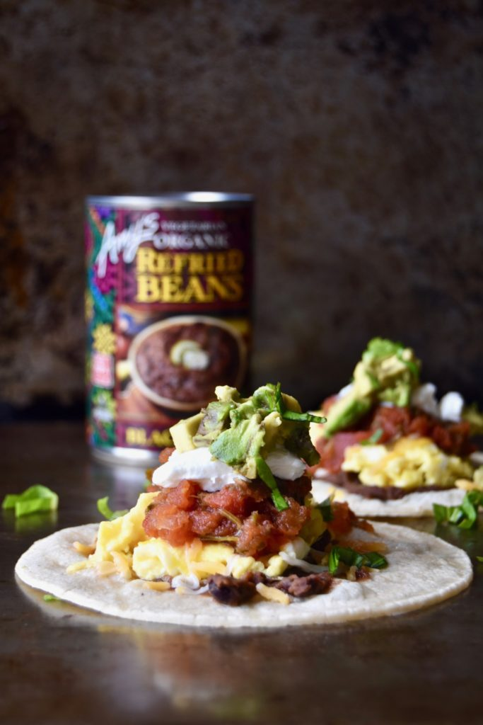 protein-packed breakfast tacos - a delicious twist on your usual scrambled eggs packed with two different types of protein // cait's plate
