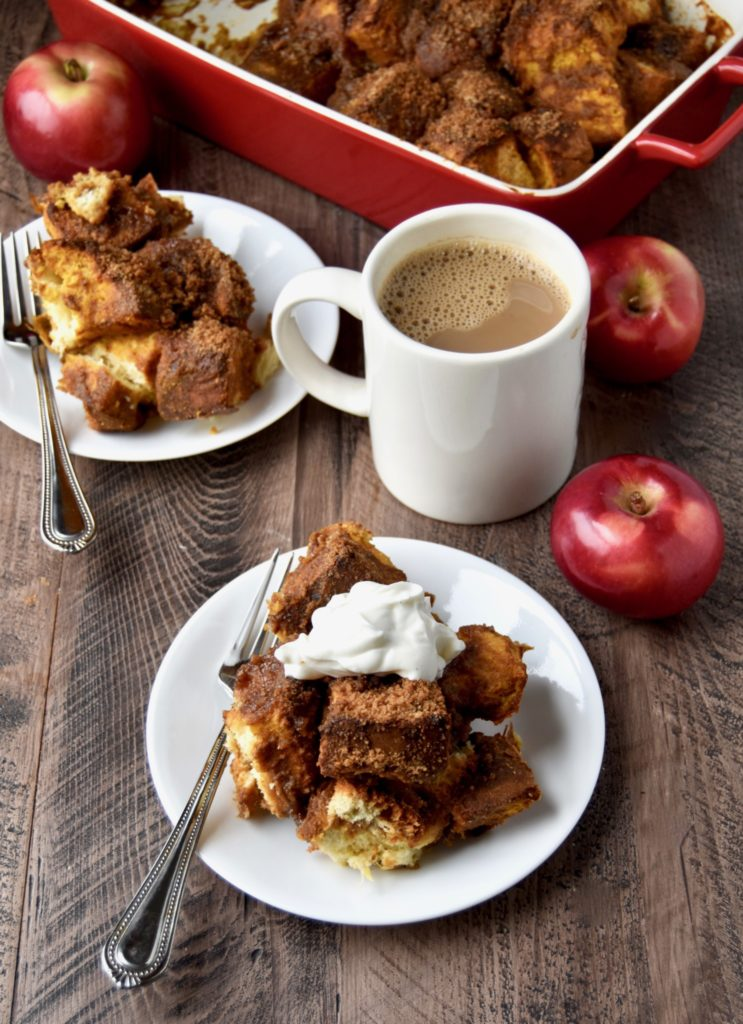 baked pumpkin french toast (with homemade whole grain brioche - a delicious make-ahead holiday breakfast // cait's plate