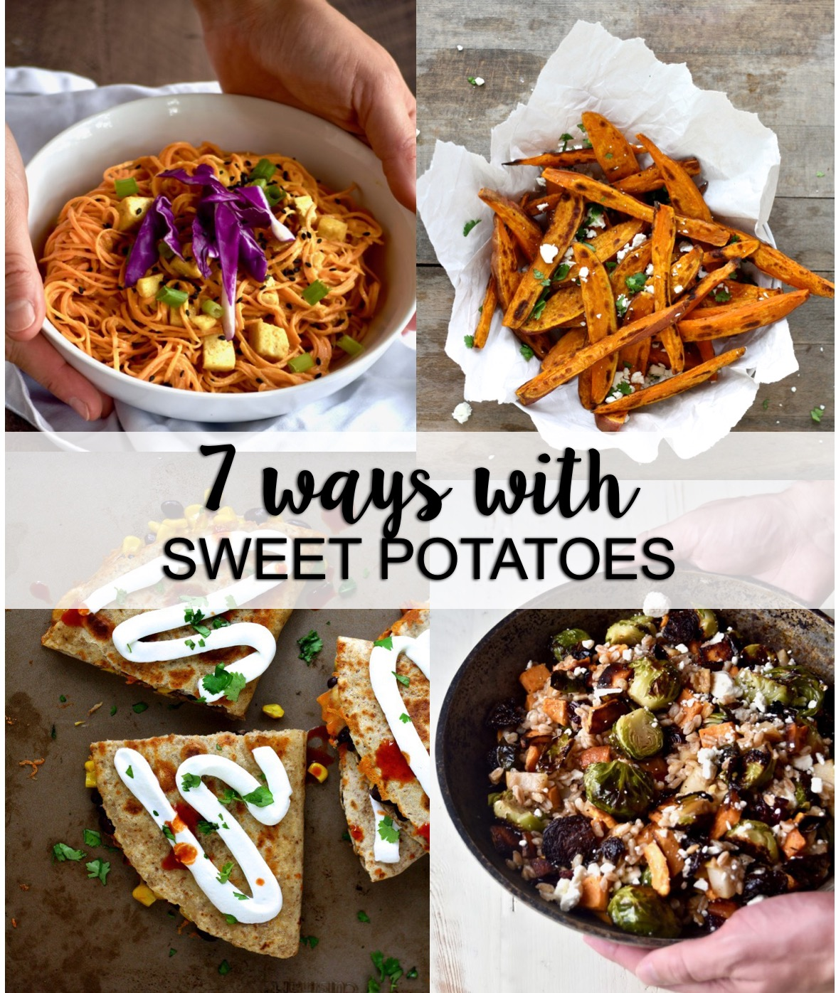 7 ways with sweet potato // cait's plate