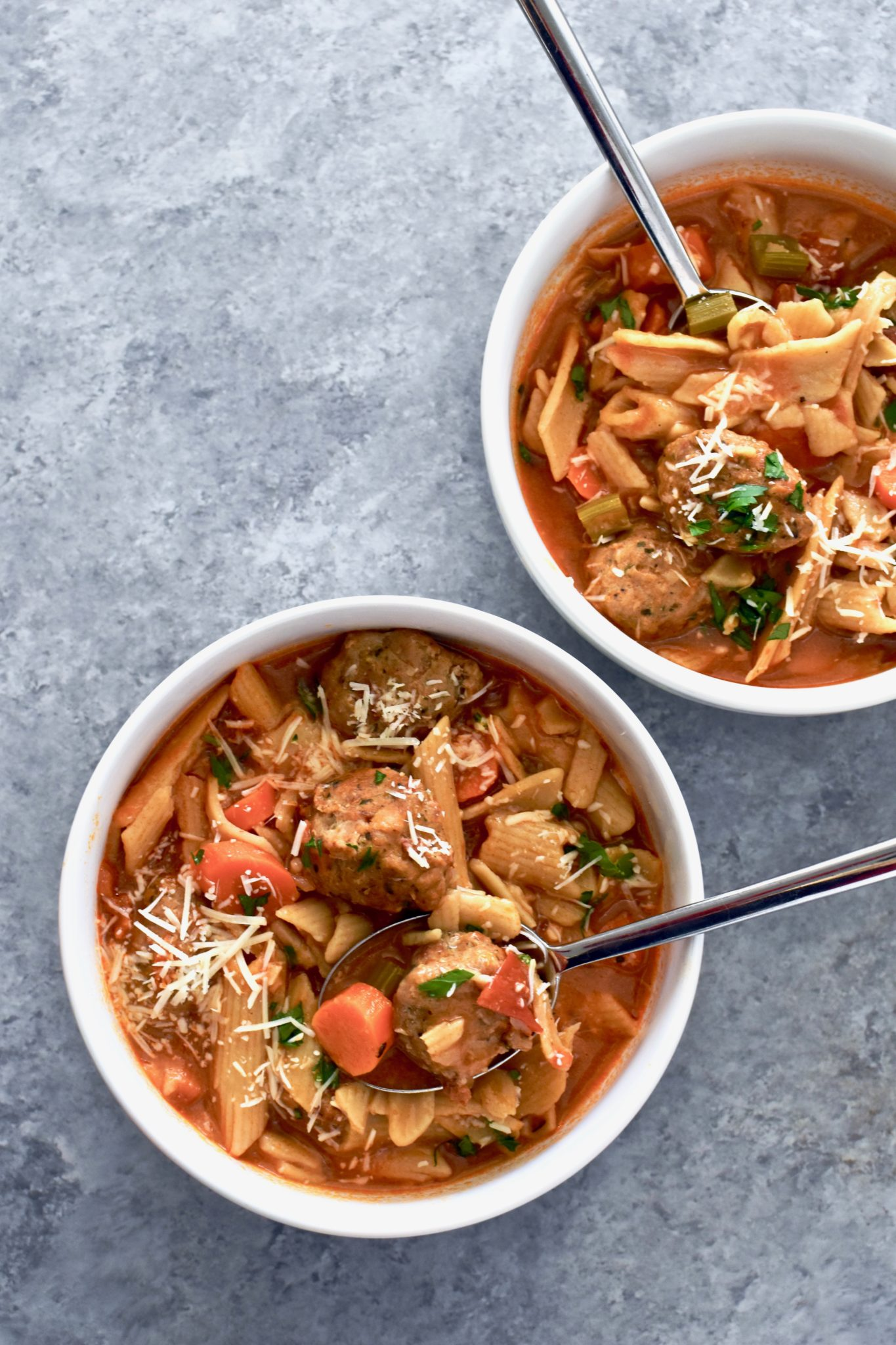 30 minute meatball soup // cait's plate
