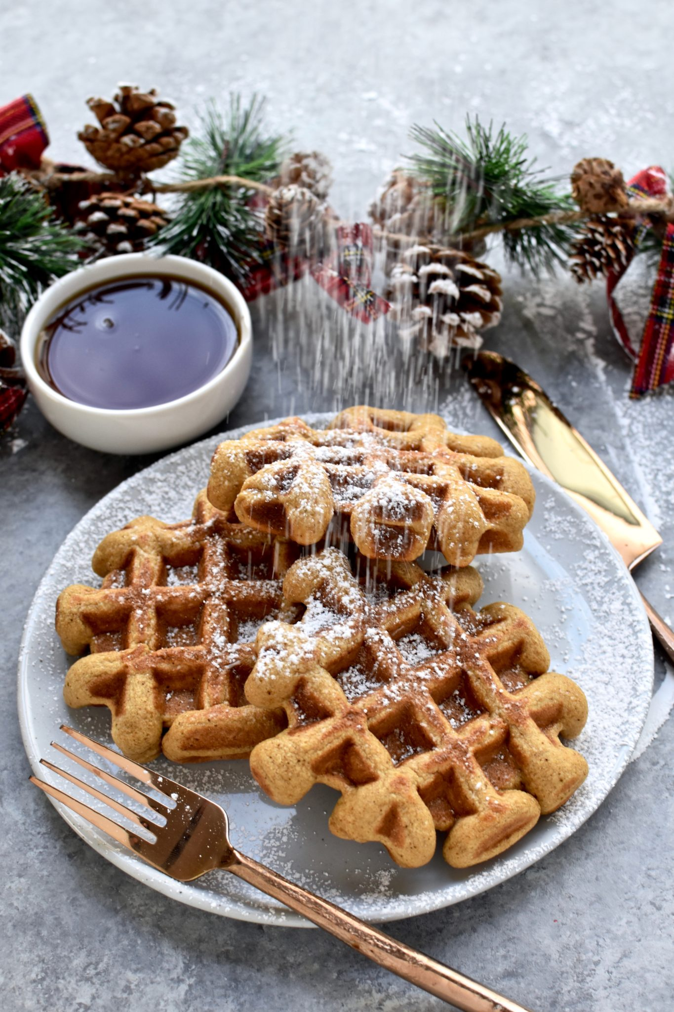 whole grain gingerbread waffles // cait's plate