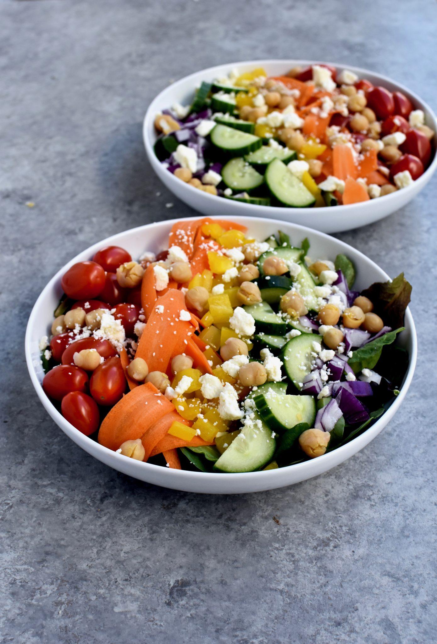 chickpea & feta rainbow salad // cait's plate