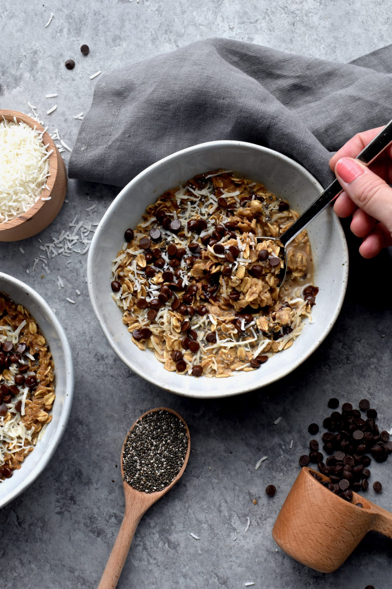 midnight mocha oatmeal bowls - from nourishing superfood bowls // cait's plate