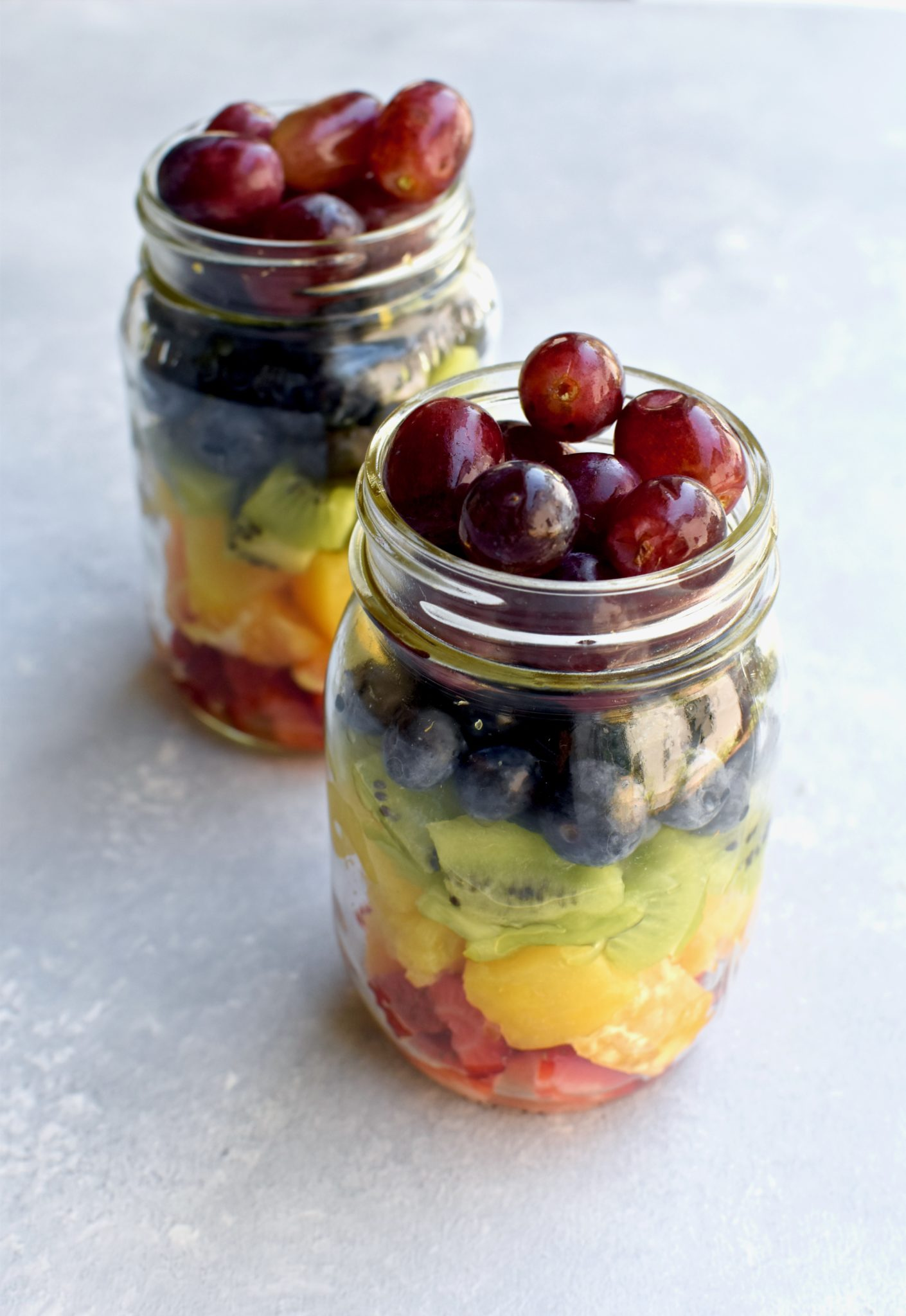 easy rainbow fruit salad // cait's plate