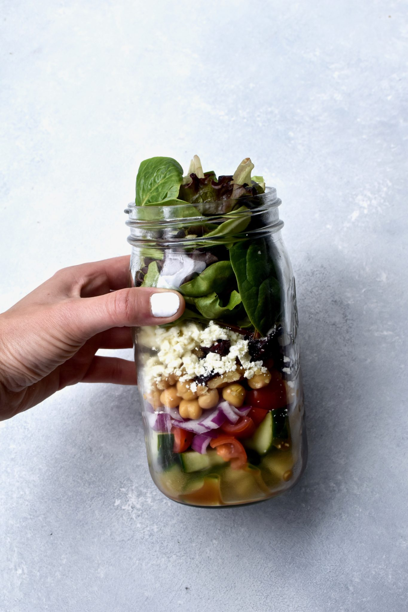 how i make my mason jar salads // cait's plate