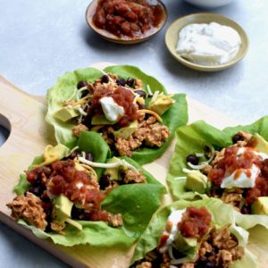 chicken taco lettuce cups // cait's plate