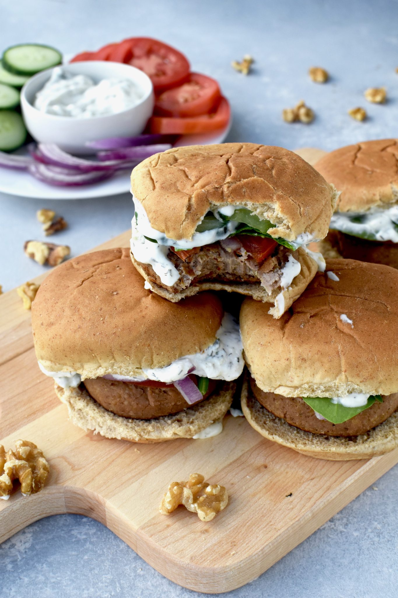 greek walnut sliders // cait's plate
