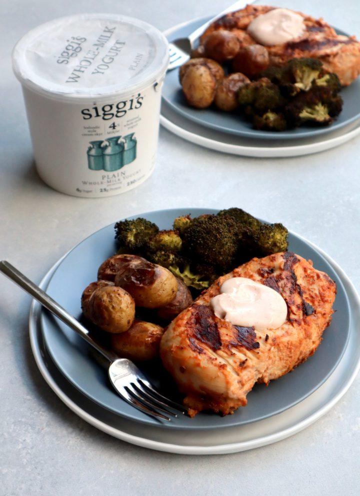 spicy yogurt marinated chicken breasts // cait's plate
