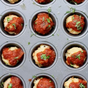 mini turkey meatloaf meatballs // cait's plate