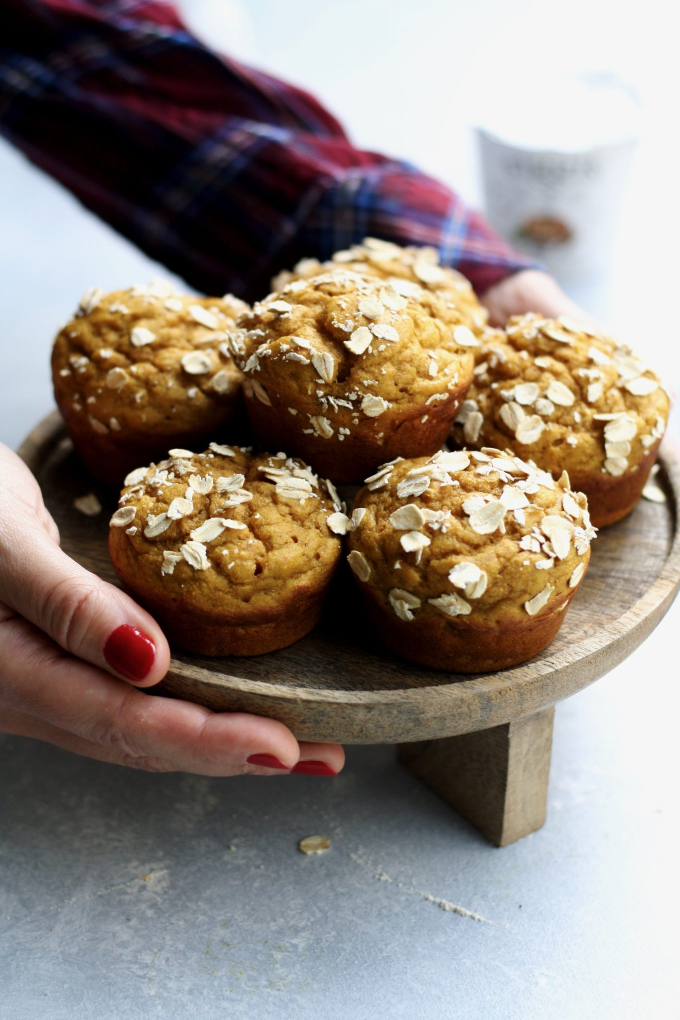 whole grain pumpkin spice banana muffins // cait's plate