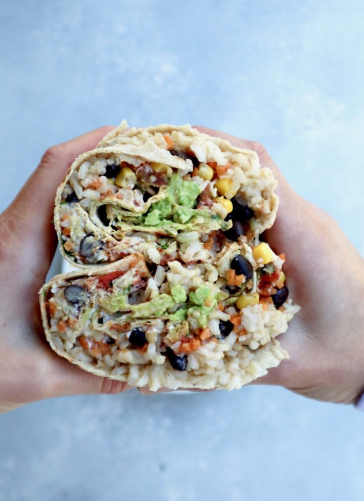 ultimate veggie-packed burrito    cait's plate