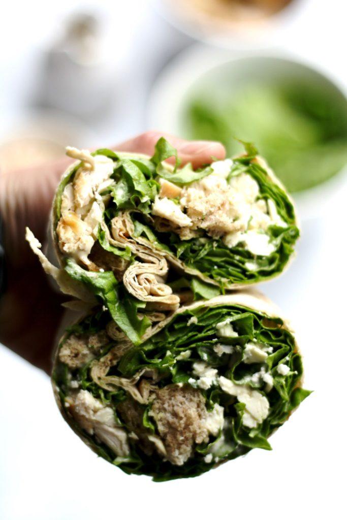 my favorite chicken caesar salad wrap // cait's plate