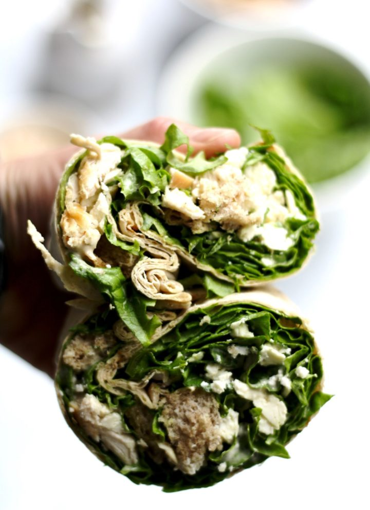 my favorite chicken caesar salad wrap // cait's plate