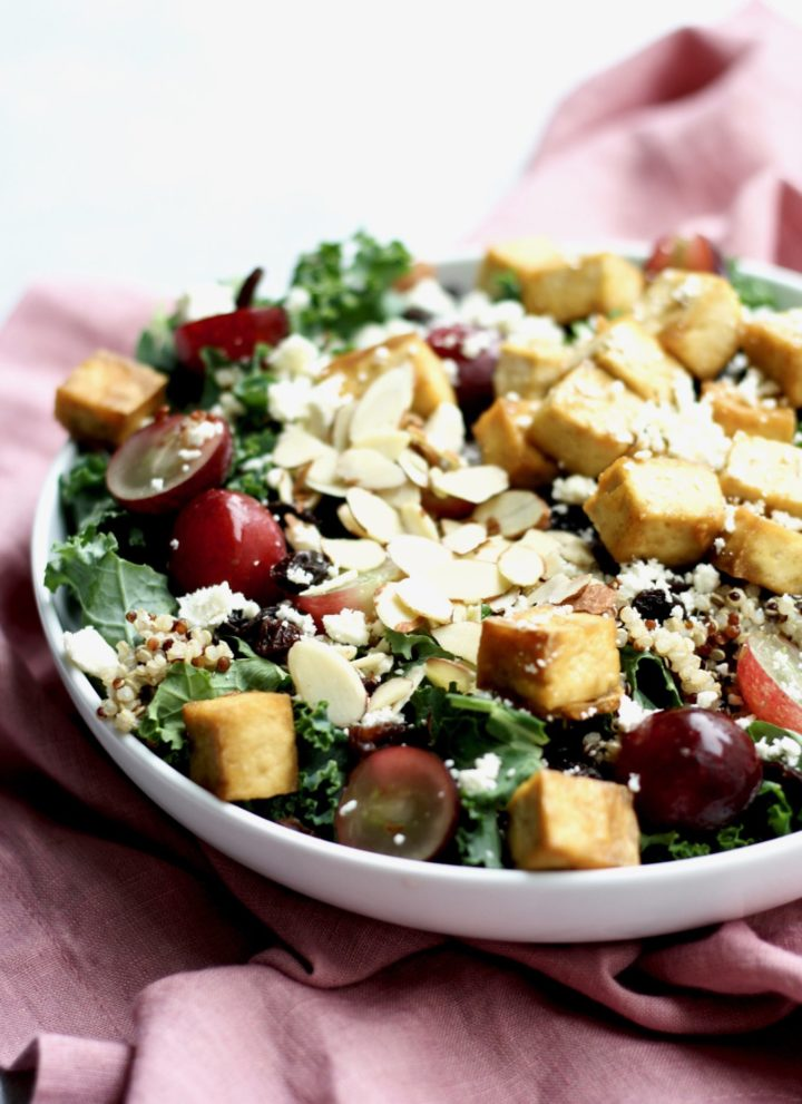 kale, quinoa & baked tofu salad // cait's plate