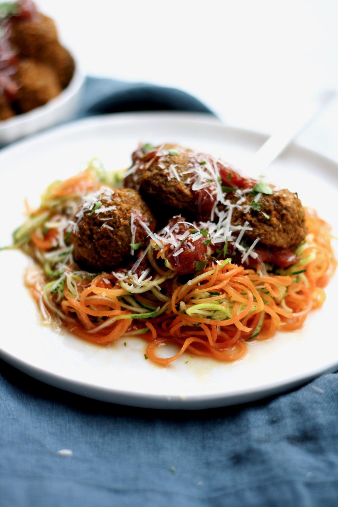 "baked lentil ""meatballs"" // cait's plate"