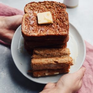 easy whole grain french toast // cait's plate