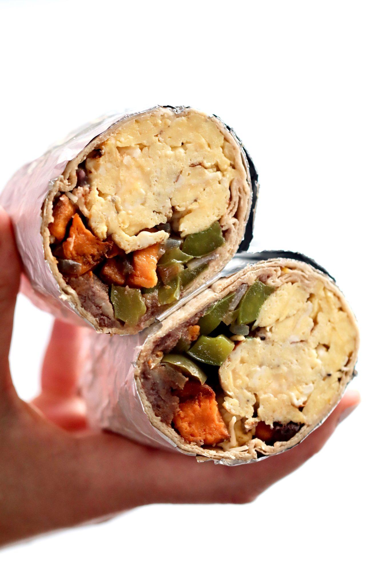 easy freezer breakfast burritos // cait's plate