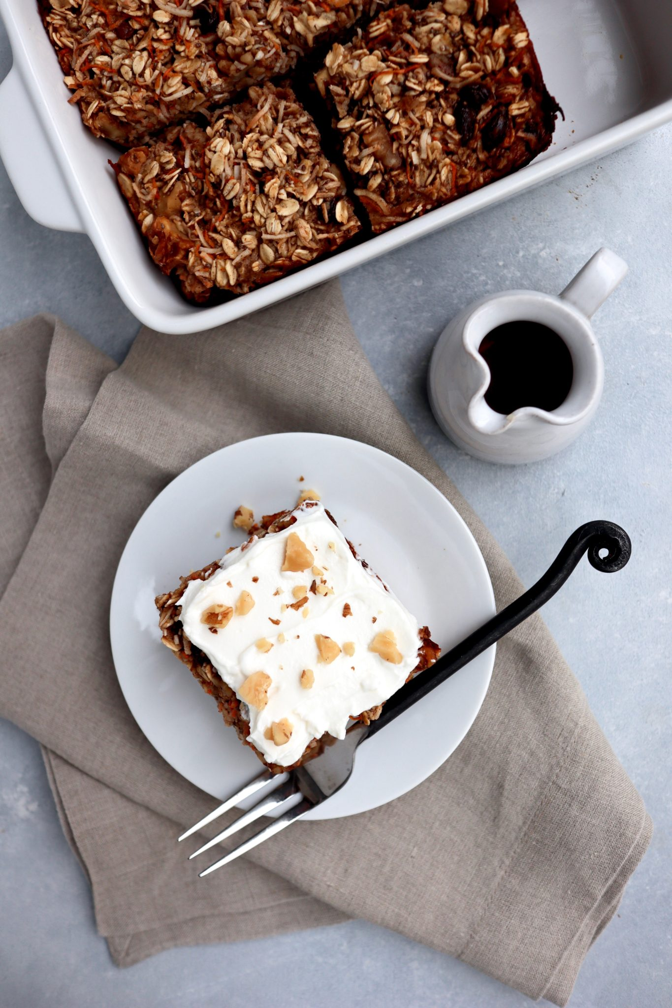 carrot cake baked oatmeal // cait's plate