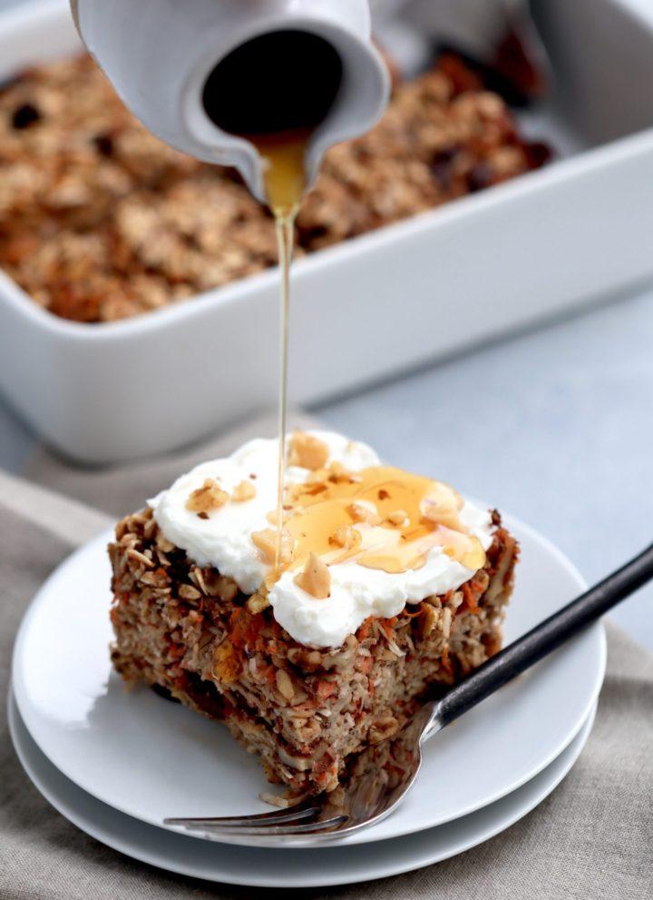 carrot cake baked oatmeal // cait's plate