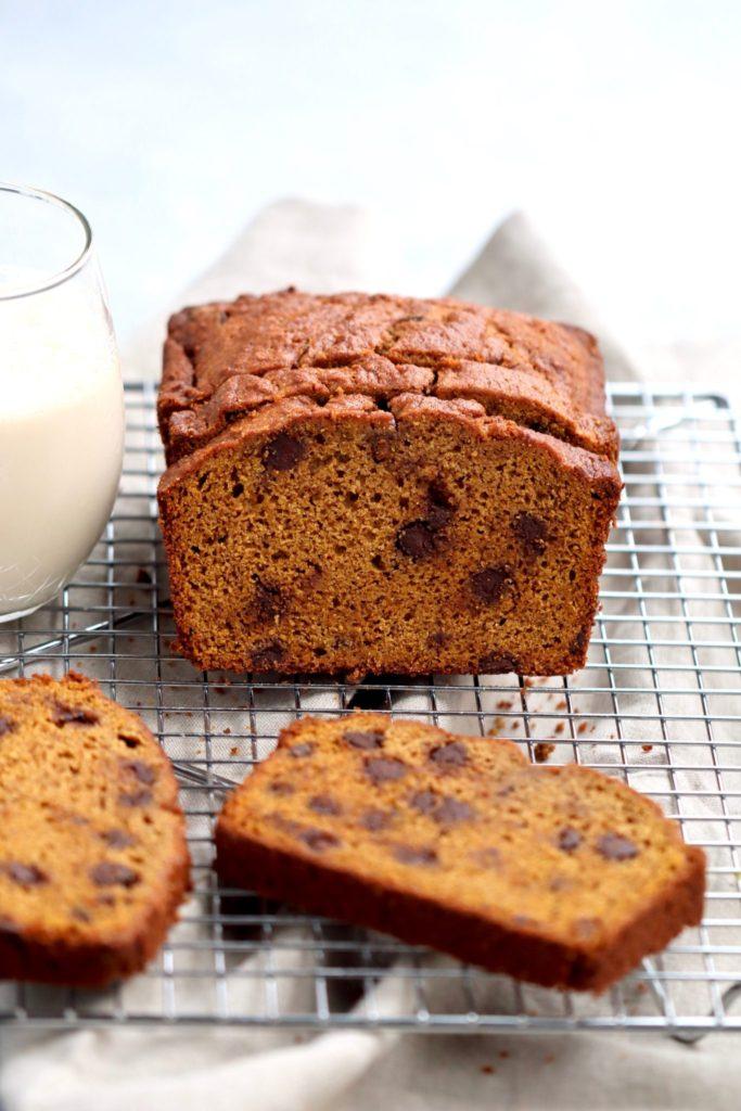 whole grain pumpkin chocolate chip bread // cait's plate