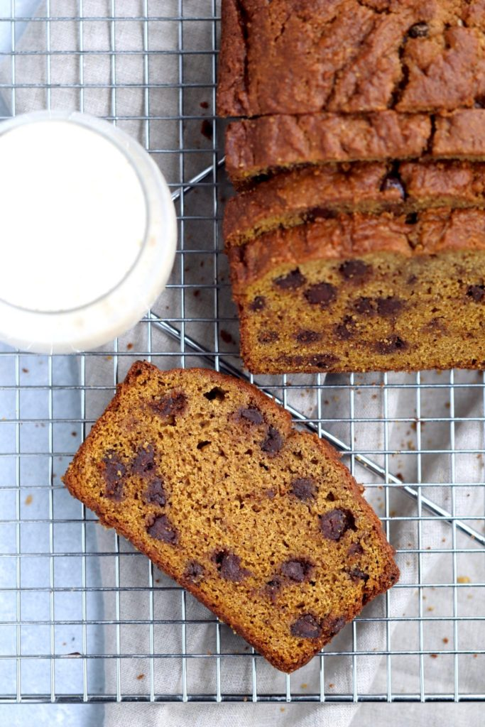 whole grain pumpkin chocolate chip bread // cait's plate