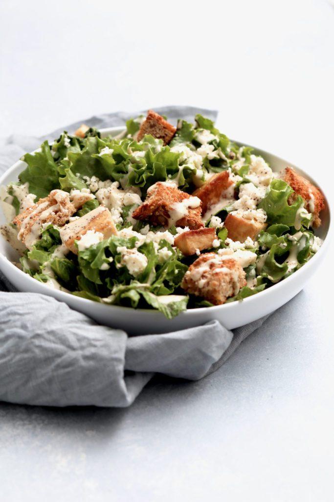 tofu caesar salad // cait's plate