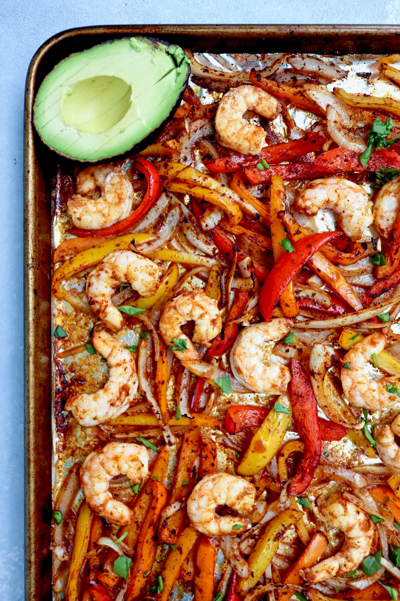 sheet pan shrimp tacos // cait's plate