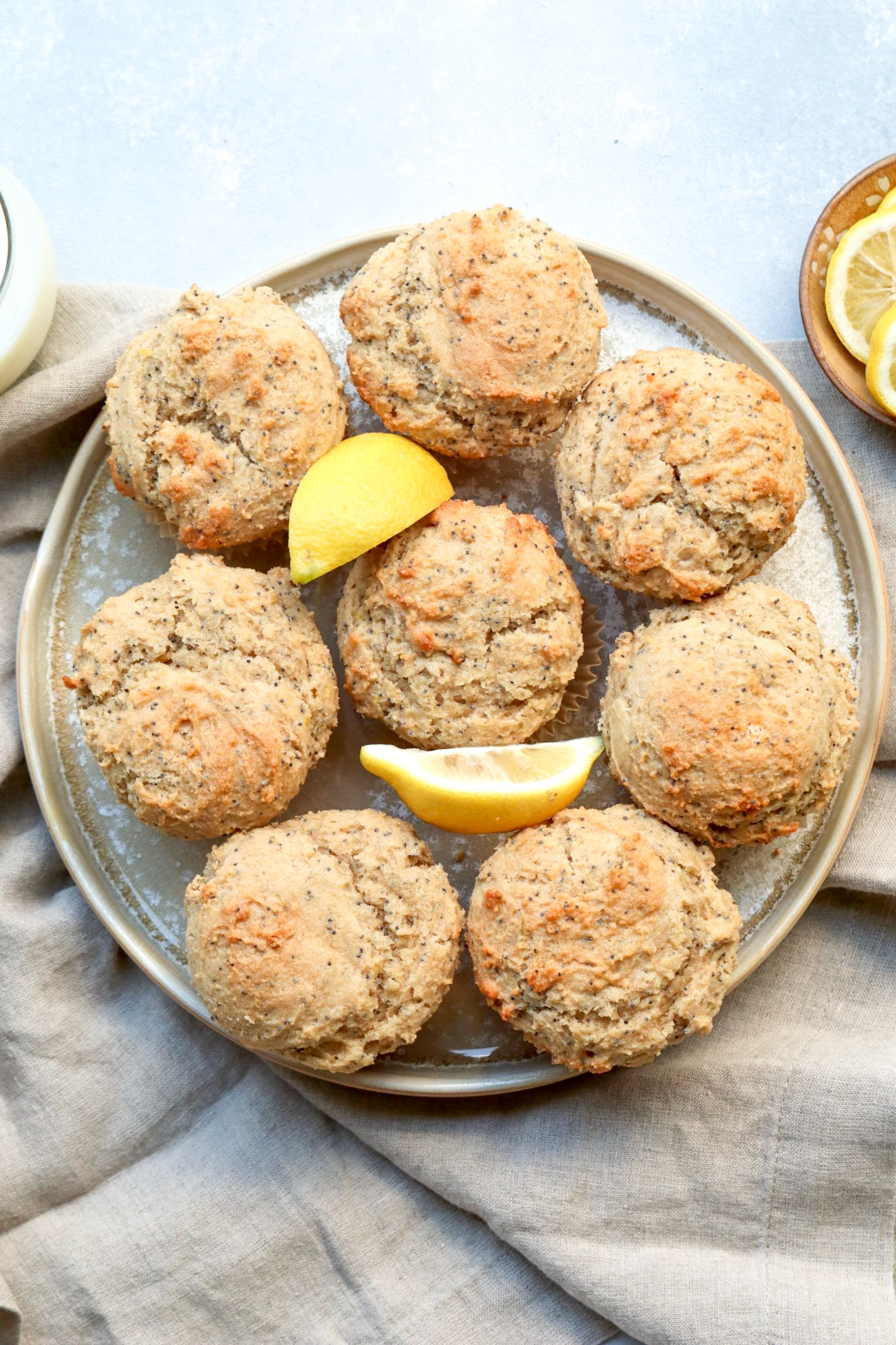 whole grain lemon poppyseed muffins // cait's plate