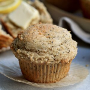 whole grain lemon poppy seed muffins // cait's plate