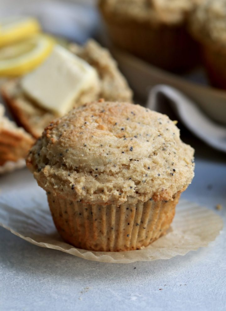 whole grain lemon poppy seed muffins // cait's plate