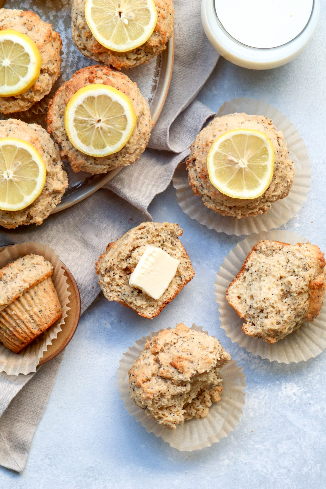 whole grain lemon poppyseed muffins // cait's plate