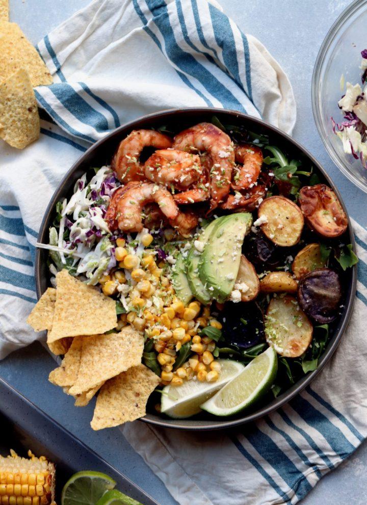 bbq shrimp bowls // cait's plate