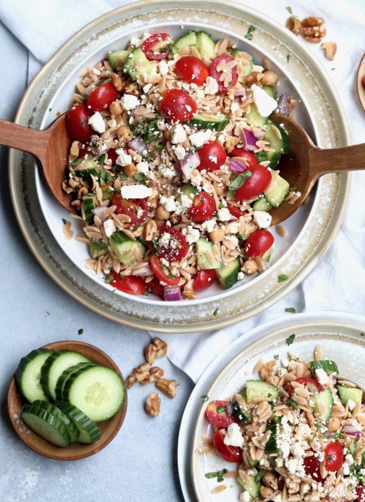 greek orzo pasta salad // cait's plate